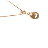 Nantucket Heavy Cut Out Necklace in Gold - sku707nl