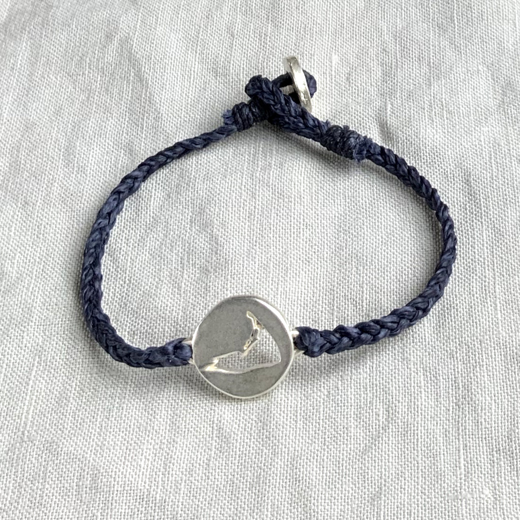 X NANTUCKET STERLING BRACELET, CUT OUT MAP | NAVY - 731BLSNVY - keelysmithdesigns