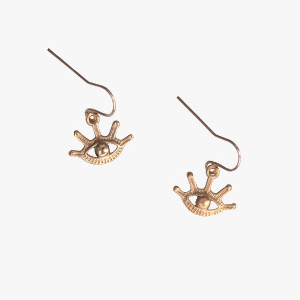 EVIL EYE EARRINGS - GOLD - 412ERG