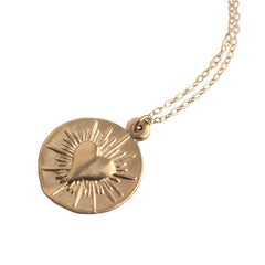 LARGE LOVE SPARK  NECKLACE - GOLD - 222NLG