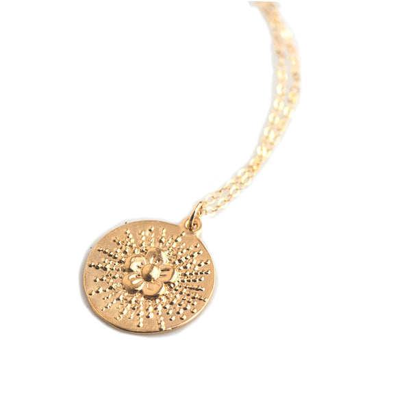 Large Flower Burst Necklace -  205NLG