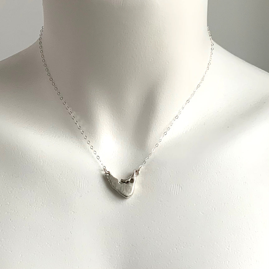 LARGE NANTUCKET DROP NECKLACE - STERLING - 709NLS