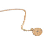 WOODBLOCK PRINT NECKLACE IN GOLD - SKU289NLG