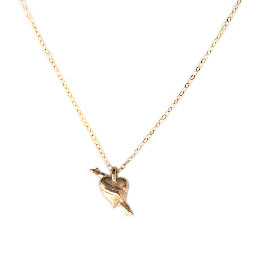 MINI HEART CHARM NECKLACE - GOLD - 279NLG