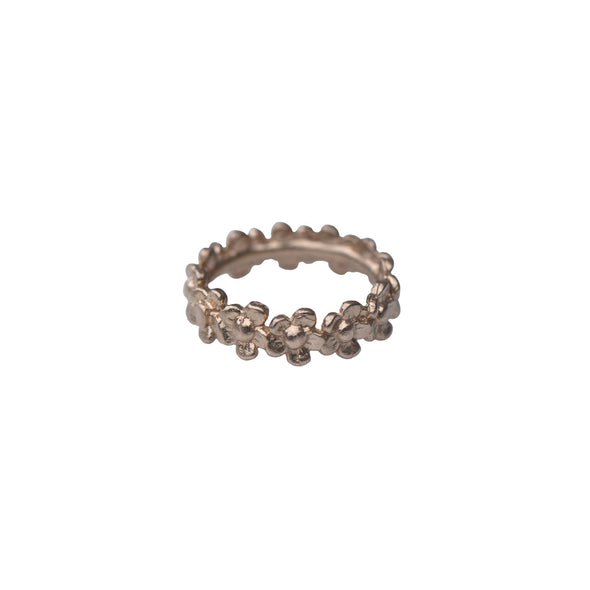 MULTI DAISY FLOWER BAND RING - GOLD - 505RG14K