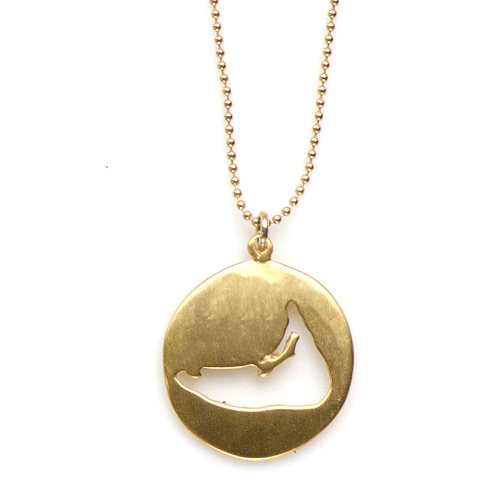 LARGE NANTUCKET NECKLACE- GOLD - 737NLG