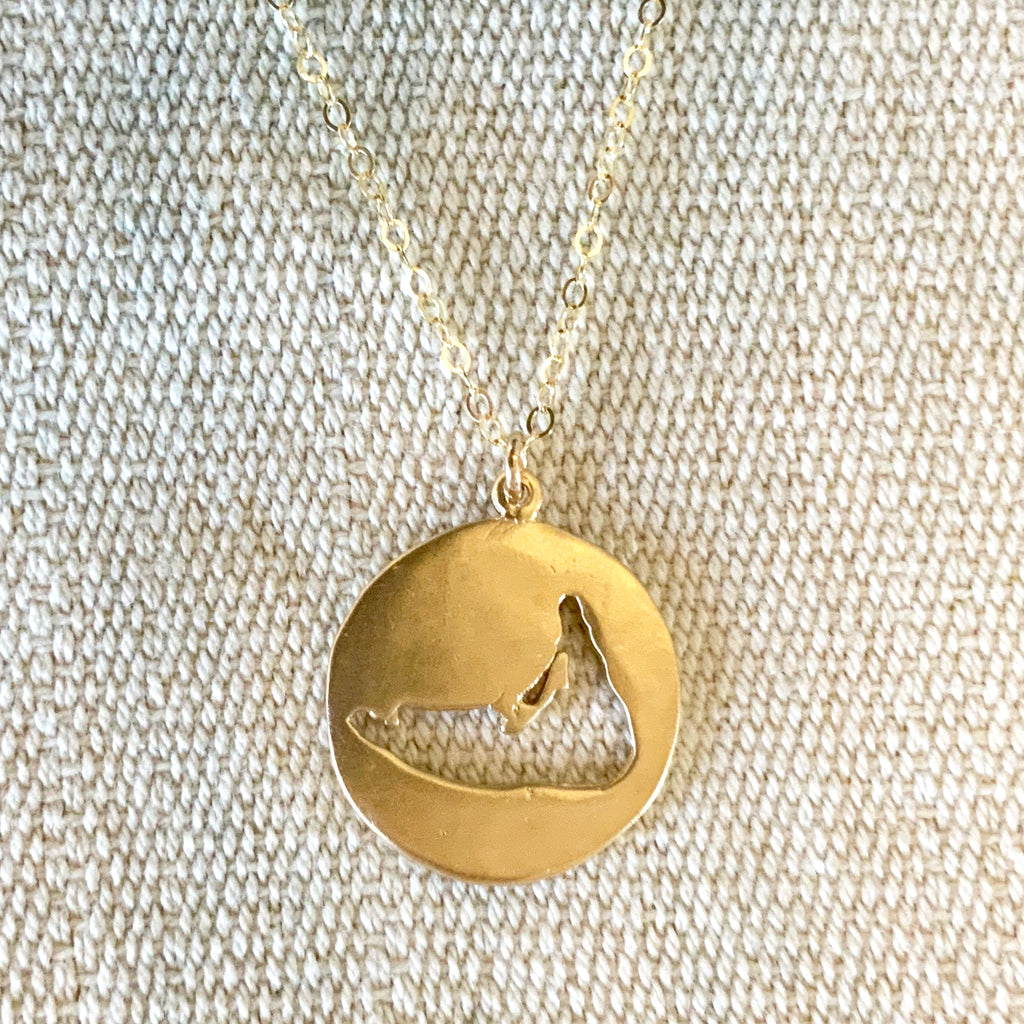 Large Nantucket Necklace in Gold - sku737nlg