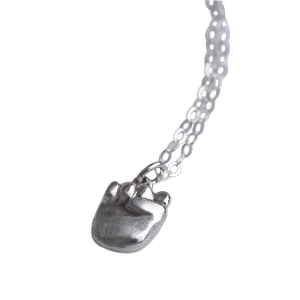 GIRL POWER MINI CHARM NECKLACE - STERLING -292NLS