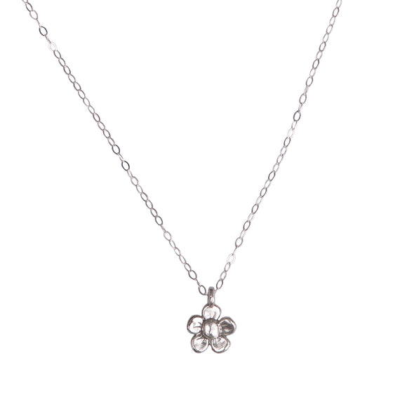 MINI DAISY CHARM NECKLACE - STERLING - 231NLS