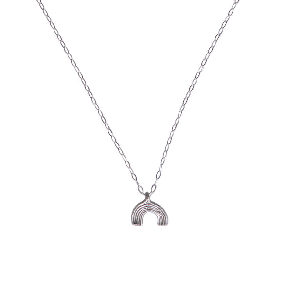 TINY RAINBOW CHARM NECKLACE - STERLING - 234NLS