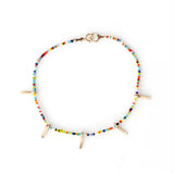 Simple Tiny Beaded Multi Charm Stack Bracelet  By Keely Smith Designs