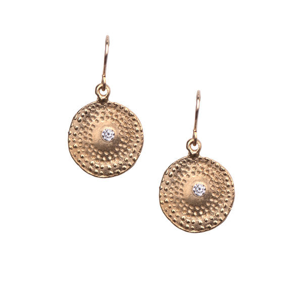 FIREWORK BURST TEXTURED EARRINGS - GOLD - 401ERG