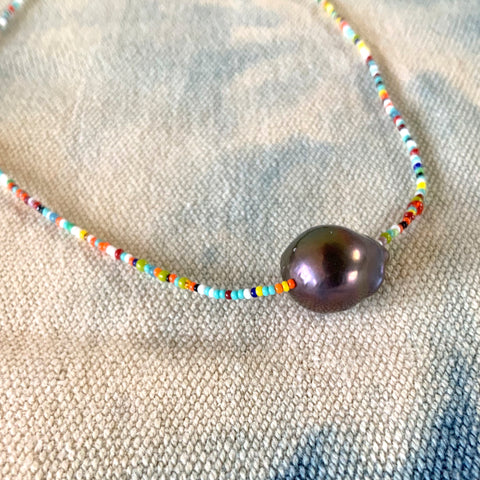 Trendy Tiny Bead and Pearl Necklace for Summer 2020  By Keely Smith Designs