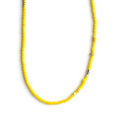 Trendy Vintage Sunshine Yellow Beaded Summer Adjustable Necklace  By Keely Smith Jewelry Designs