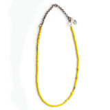 Stylish Vintage Sunshine Yellow Chunky Beaded Adjustable Necklace - sku1037NLY