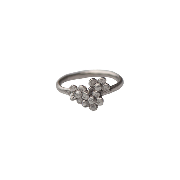 TRIPLE DAISY RING - STERLING - 504R