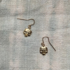 MINI SKULL EARRINGS - GOLD - 414ERG