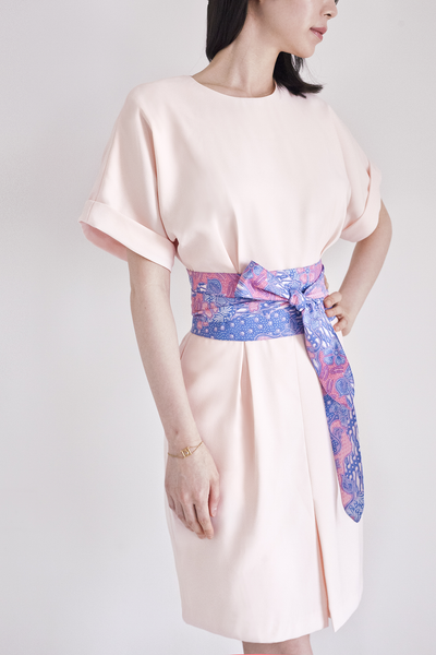 Demeteer bareback Kimono Dress in Peach Whip 30% OFF S$169 NOW S$118