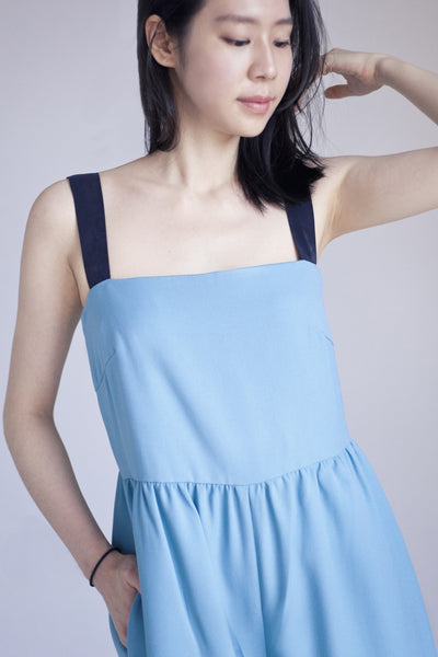 Persephone Pinafore Jumpsuit in Vert d'Eau 60% OFF $159 NOW $63