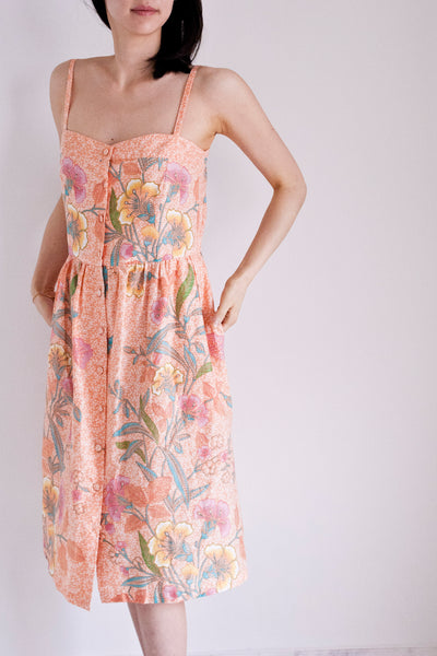 Desdemona Babydoll Sundress in Kumquat