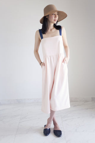 Persephone Pinafore Jumpsuit in Peach Whip 60% OFF $159 NOW $63