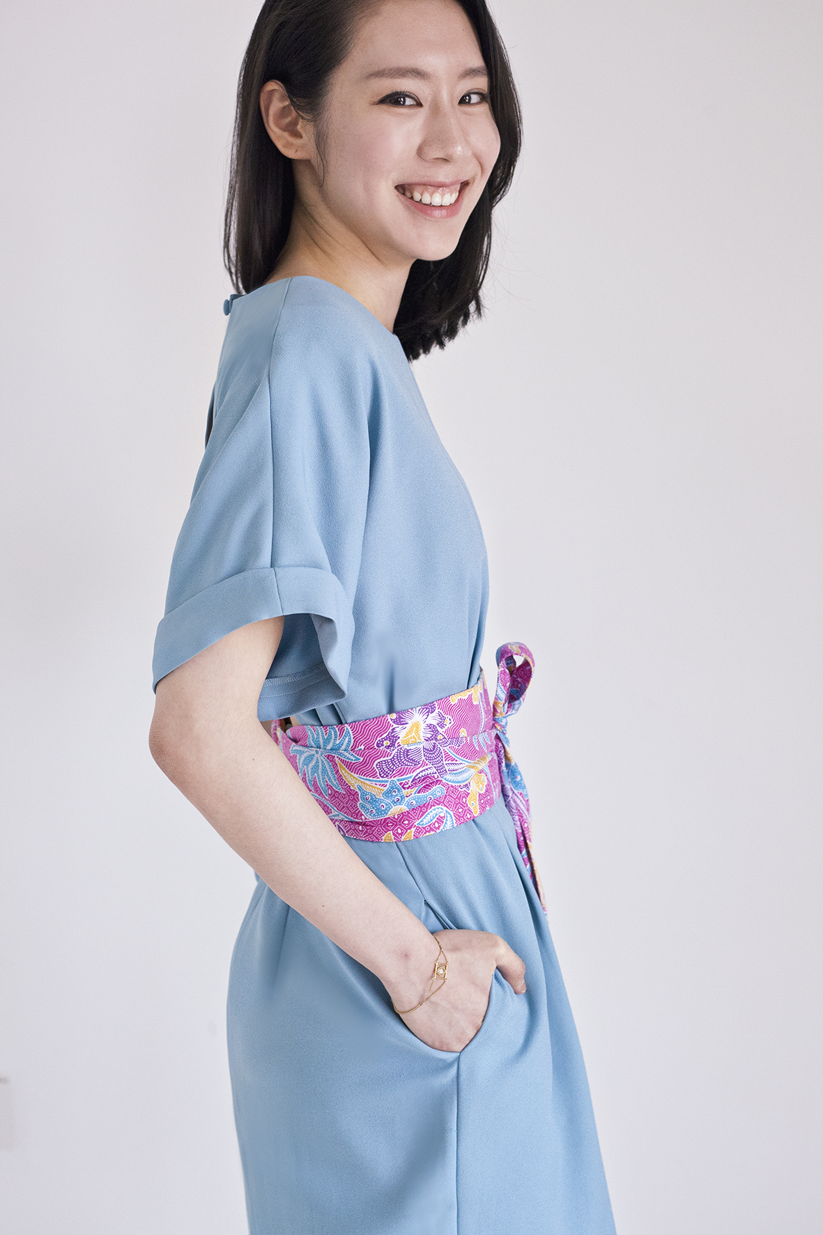 Demeteer bareback Kimono Dress in Vert d'Eau 30% OFF S$169 NOW S$118