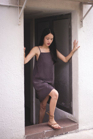 Andrea Backwrap dress in Chocolate