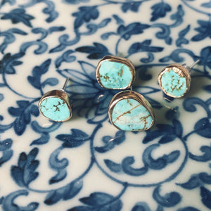 Ocean's Treasure Turquoise stud earrings