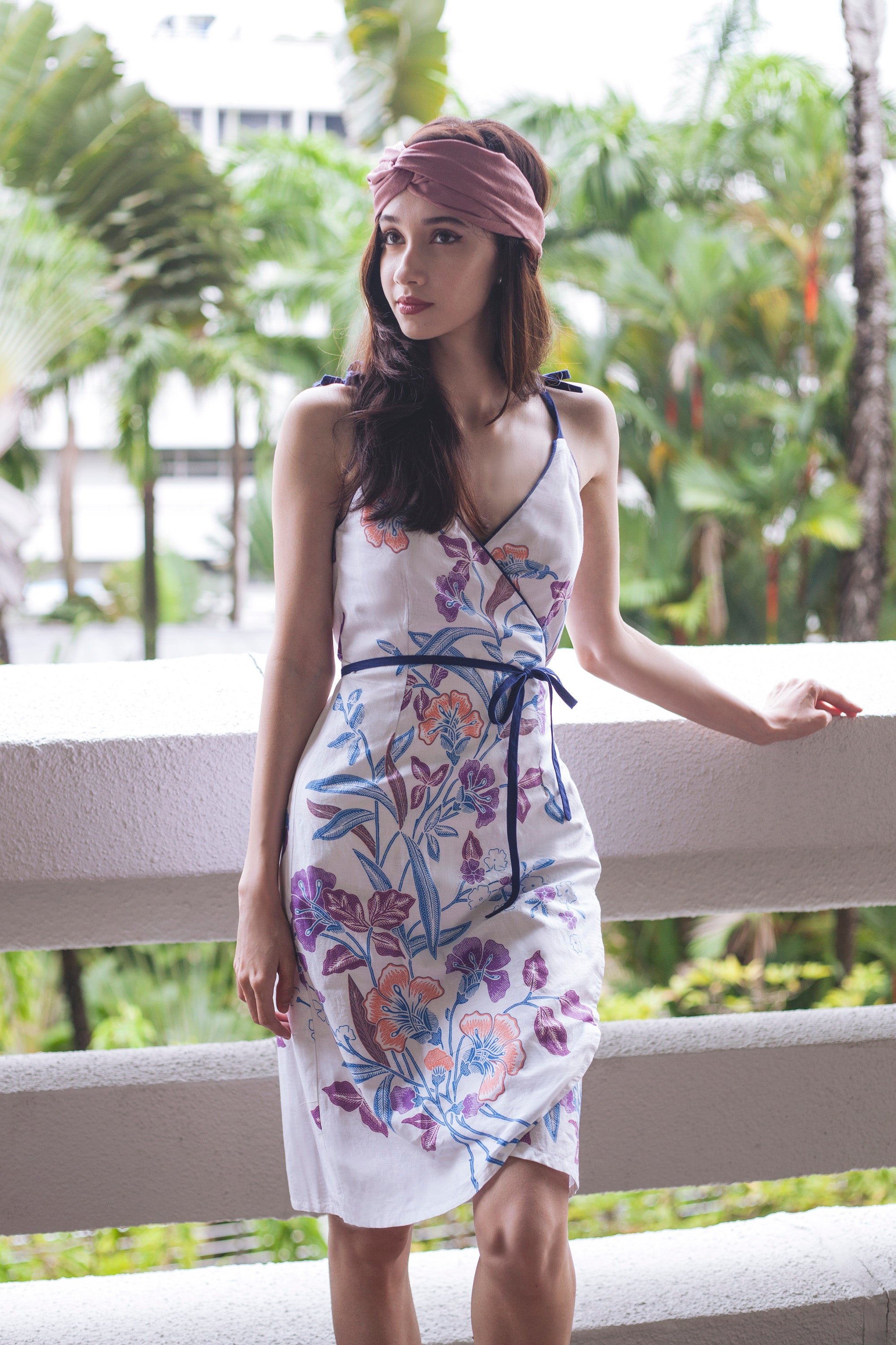 Andromeda Wrapdress in Orchid