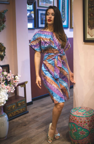 Nymphea kimono dress in Cool Parang