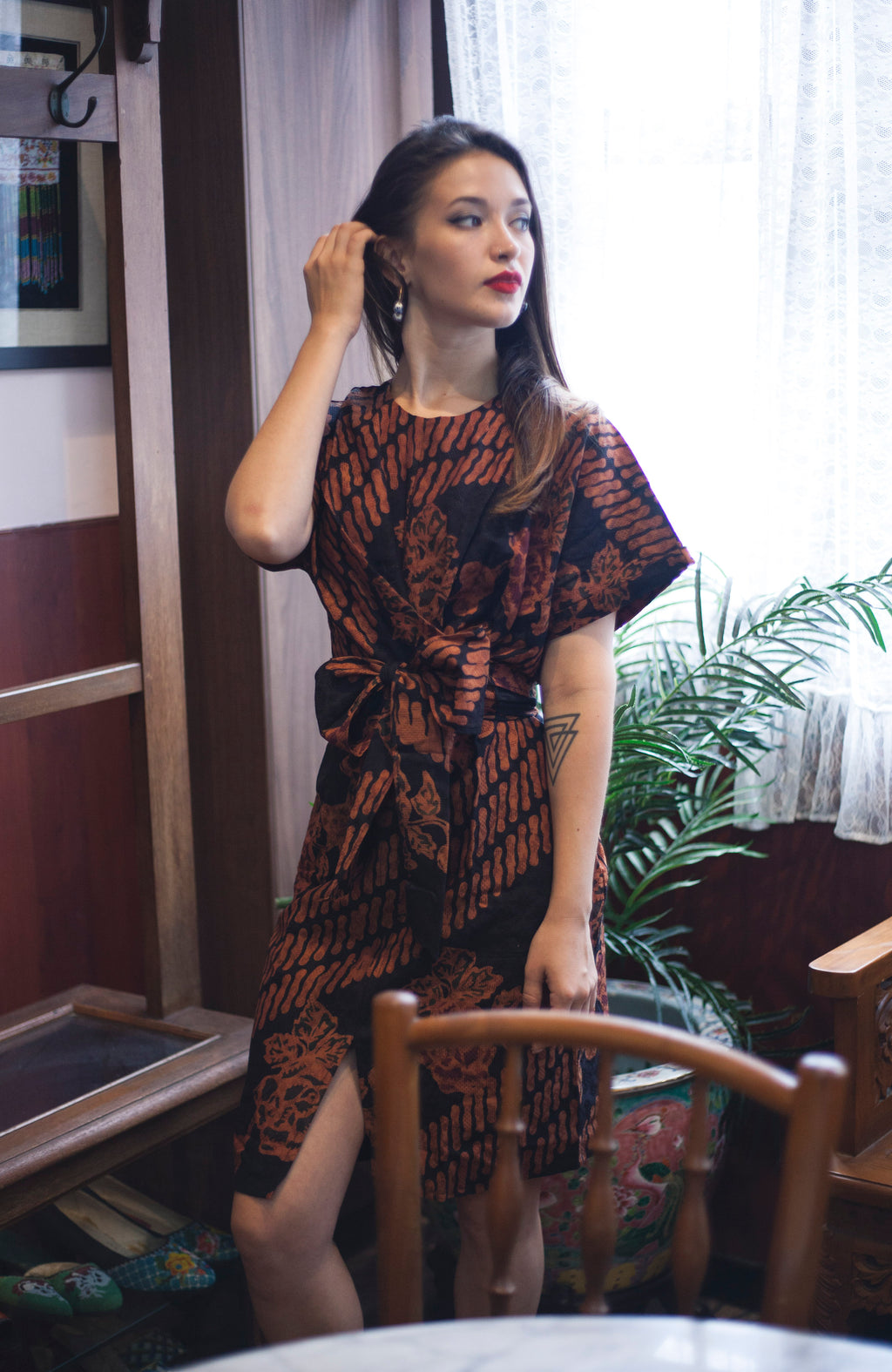 Nymphea kimono dress in Doby Terra