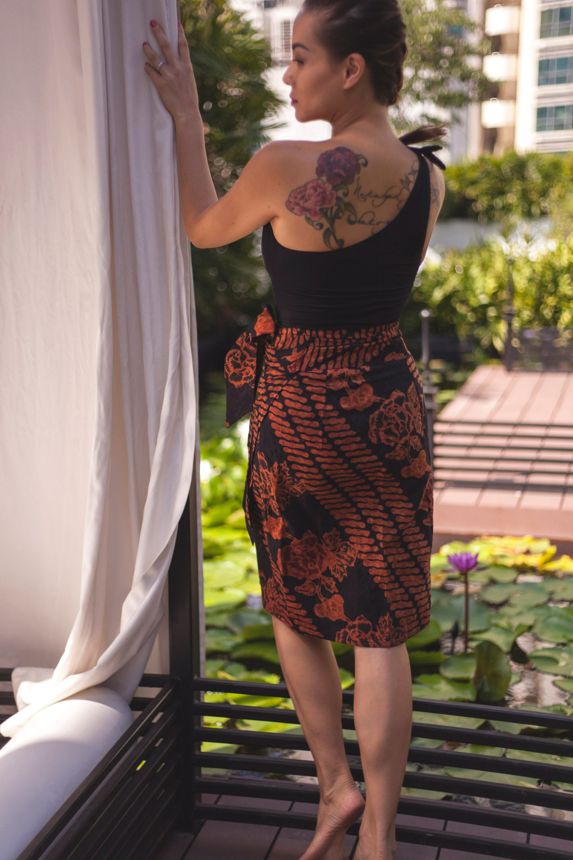 Sunniva wrap skirt in Doby Terra
