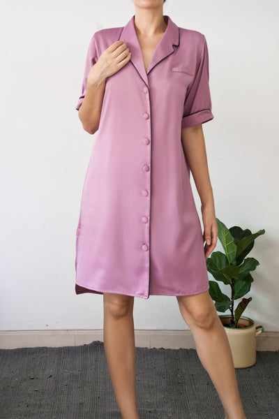 Pleione shirt dress in Dusk