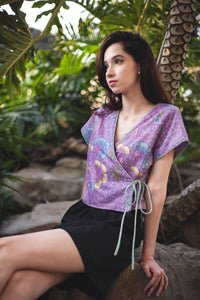 New Salomé wrap top in Verbena