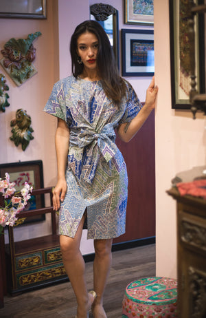 Nymphea kimono dress in Saltwater