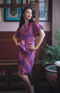 Nymphea kimono dress in Warm Parang