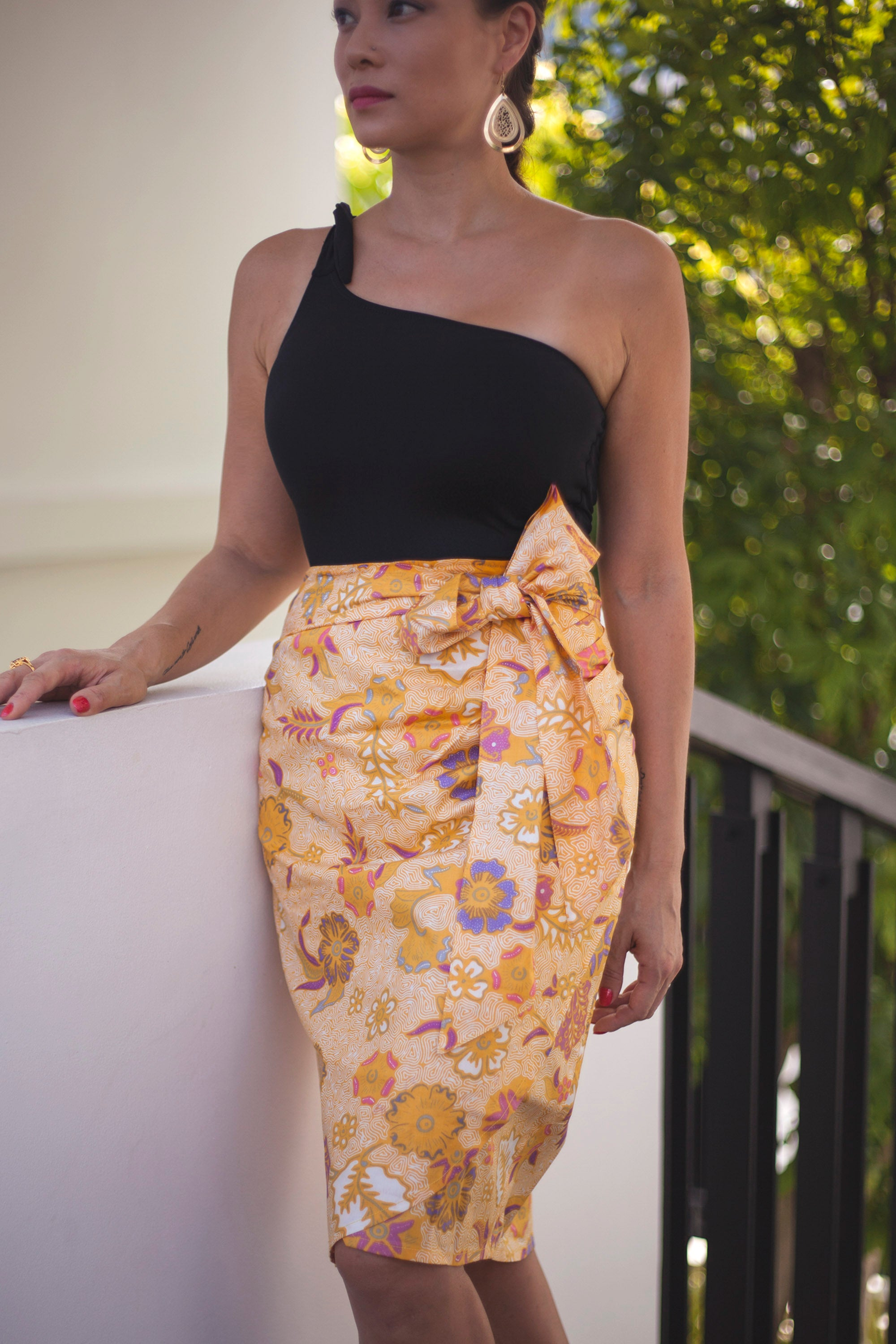 Sunniva wrap skirt in Zenith