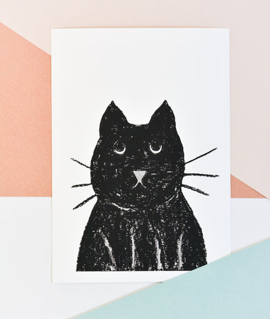 ATELIER MAVE - Innocent Cat Art Print