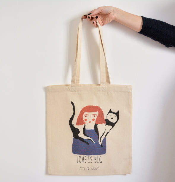 ATELIER MAVE - Love is Big Tote bag