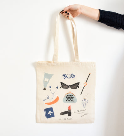 ATELIER MAVE - Things inside Bag Tote bag