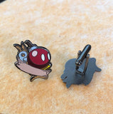 Mario Bomb guy inspired cuff link set - bob omb Hard enamel cufflinks