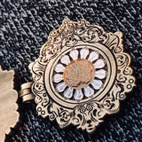 Labyrinth 13 O'Clock Antique Locket Opening Enamel Pin Sarah & Jareth