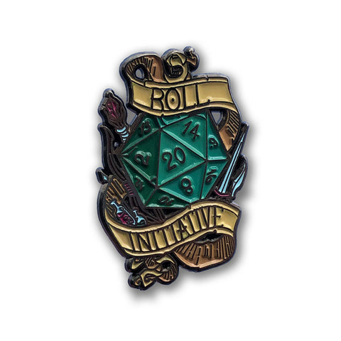 Role for Initiative Dungeons & Dragons Enamel Pin DND