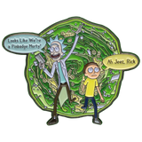 ''Ah Jeez Were a Pin!'' Rick & Morty Enamel Pin