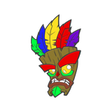 Crash Aku Aku Mask Pin Badge