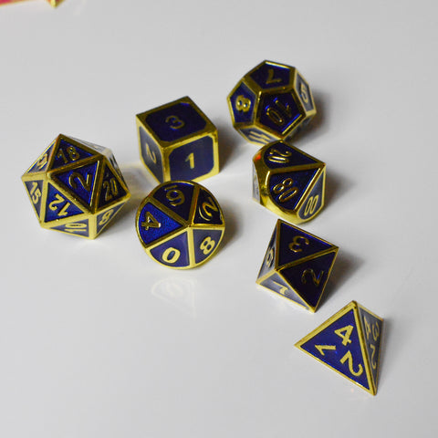 Dice Set Royal & Gold D&D