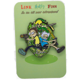 Link, Morty and Finn! Enamel Pin