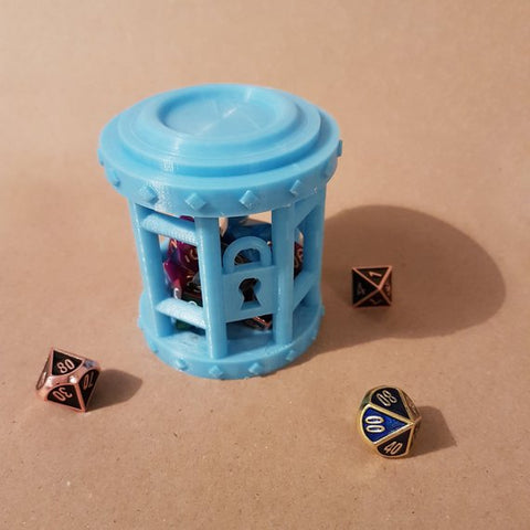 Dice Jail - Perfect Place for misbehaving dice. Ideal for Dungeons and Dragons - DnD