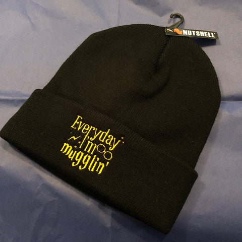 Everyday i'm Mugglin - Potter Themed Beanie Hat