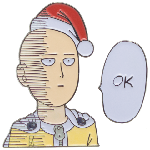 Saitama wishes you an OK Christmas - One Punch Man - Duo Soft Enamel Pin Badge